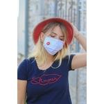 Masque blanc BOUCHE rouge Mamouchka