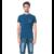 Tee-shirt uni poche et revers de manche imprimé 1