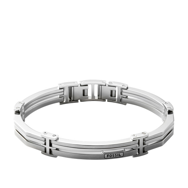 bracelet acier homme fossil JF84883040,bijouterie lombart lille