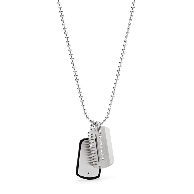 53f6174d727 Collier avec plaque militaire FOSSIL JF02997040
