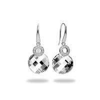 Boucles d'oreilles argent et cristal Swarovski Spark A659W