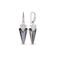 Boucles d'oreilles argent et cristal Swarovski Spark A402GR