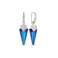 Boucles d'oreilles argent et cristal Swarovski Spark A402B