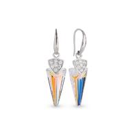 Boucles d'oreilles argent et cristal Swarovski Spark A402AB