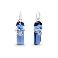 Boucles d'oreilles argent et cristal Swarovski Spark A387B