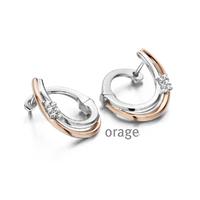 Boucles d'oreilles argent et plaqué or rose Orage AH015