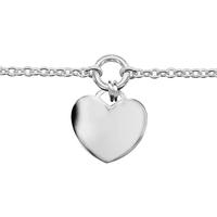 Bracelet argent 925/000 rhodié pampille coeur 026717c