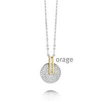 Collier argent et plaqué or Orage AH030