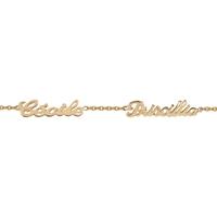 Bracelet 2 prénoms découpés en plaqué or 92308-2