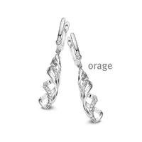 Boucles d'oreilles argent Orage AH079