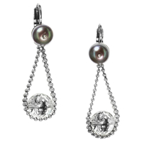 Boucles d'oreilles Nature bijoux collection Black Pearl 12-29269