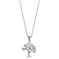 image collier argent et oxydes de zirconium arbre de vie - lombartbijoux.com