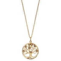image collier plaqué or arbre de vie - lombartbijoux.com