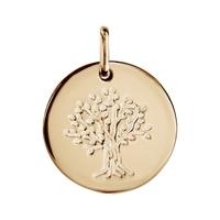 Pendentif arbre de vie en plaqué or 977170