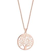 image collier PVD rose arbre de vie - lombartbijoux.com
