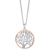 image collier acier bicolore arbre de vie - lombartbijoux