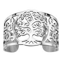 Bracelet manchette femme arbre de vie en acier 127799
