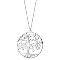 image collier argent arbre de vie - lombartbijoux