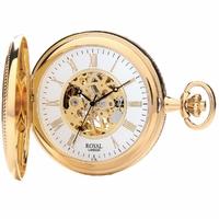 montre gousset mécanique - royal london - 90029-02 - ouverte