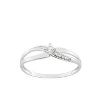 Bague femme anneaux entrelacés or blanc 375/000 09SA014GZ