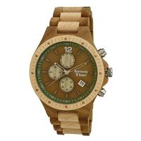 Montre chronomètre en bois pour homme GreenTime by ZZERO ZW013F