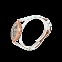 316B990 profil 249€ automatique cuir blanc et métal rosé