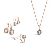 Parure vintage argent rosé pour femme Orage AK154 - lombartbijoux.com