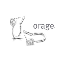 Boucles d'oreilles argent Orage AK032