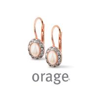 Boucles d'oreilles vintage argent rosé Orage AK155