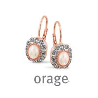 Boucles d'oreilles vintage argent rosé Orage AK152