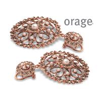 Boucles d'oreilles vintage argent rosé Orage AK167