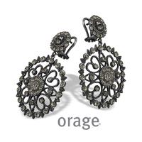 Boucles d'oreilles vintage argent vieilli Orage AK161