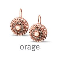 Boucles d'oreilles vintage argent rosé Orage AK166