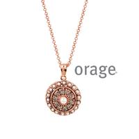 Collier vintage argent rosé Orage AK165