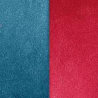 Les Georgettes vinyle Bleu/Framboise pour boucles d'oreilles 30mm