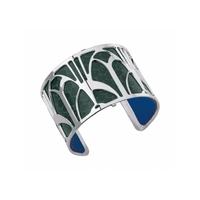 manchette-arcade-finition-argent-serpent-d-eau-sapin-bleu-klein-lombartbijoux.com