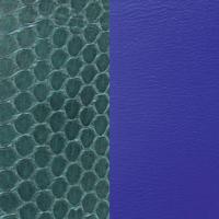 Cuir réversible pour bracelet Les Georgettes 702145799BF Serpent d'eau sapin/Bleu Klein