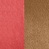 Les Georgettes vinyle Orangé/Brun rosé pour boucles d'oreilles 30mm
