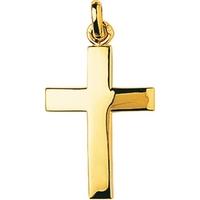 Pendentif croix en plaqué or 136099