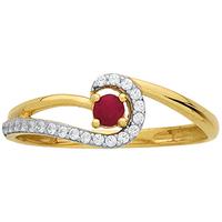 Bague en or jaune 9 carats et rubis N06815