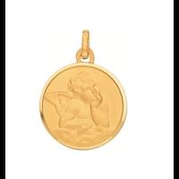 Médaille ange en or jaune 18 carats 590100