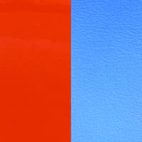 Les Georgettes vinyle Orange vernis/Bleuet pour boucles d'oreilles 30mm