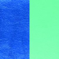Cuir réversible pour colliers rectangulaires Les Georgettes C6 Bleu sirène/Vert d'eau