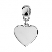 Charms coulissant coeur argent Thabora