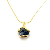 Collier cristal Swarovski - Andrea MARAZZINI - SIMPLE BLEU SAPHIR doré