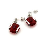 Boucles d'oreilles cristal Swarovski - Andrea MARAZZINI - E1 ROUGE RH