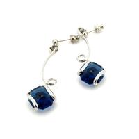 Boucles d'oreilles cristal Swarovski - Andrea MARAZZINI - E3 BLEU SAPHIR RH