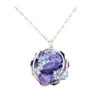 Collier sautoir cristal Swarovski - Andrea MARAZZINI - Big flower Mix violet
