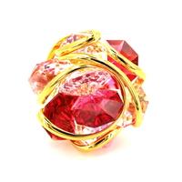 Bague femme cristal Swarovski - Andrea MARAZZINI - RDW BIG FLOWER MIX RED