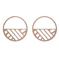 Bijoux Les Georgettes : Boucles d'oreilles Ruban finition or rose 703188641